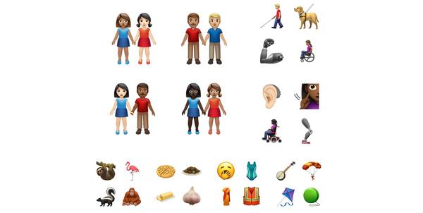 iOS 13.2:n uusia emoji-kuvakkeita.