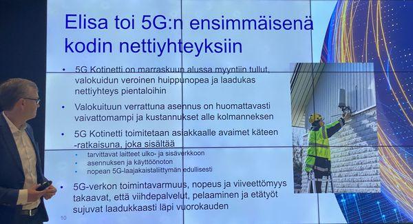 Elisa on lanseerannut myös 5G Kotinetti -palvelun korvaamaan kuituyhteyksiä.