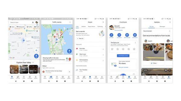 Uudet välilehdet Maps-sovelluksella. Kuva: Android Authority.