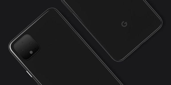 Pixel 4 -älypuhelin Googlen aiemmin julkaisemassa kuvassa.