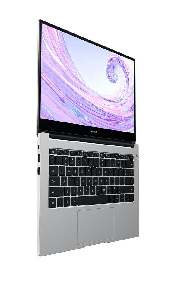 Uutuuskaksikosta MateBook D 14″:n kansi aukeaa tällä tavalla 180 astetta suoraksi. 15 tuuman mallin kansi ei avaudu aivan yhtä paljon.