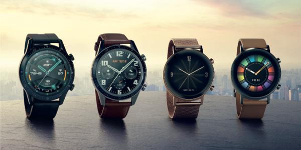 Huawei Watch GT 2:n kaksi kokovaihtoehtoa. Huawein omia rannekkeita tulee saatavilla kahdeksan erilaista.