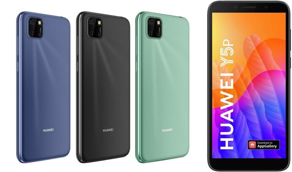 Huawei Y5p:n eri värivaihtoehdot.