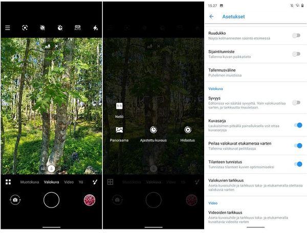 Nokia 5.3:n kamera on monipuolinen, ja laadukkaita kuvaustiloja on paljon.