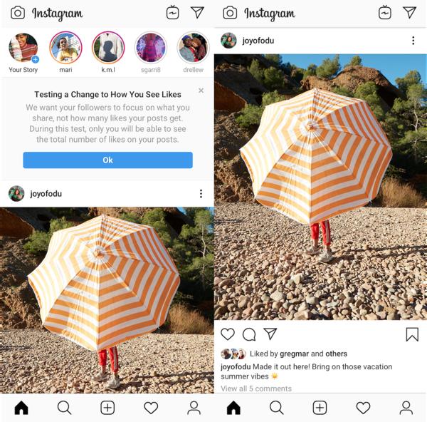 Instagramin tykkäyksien piilottamiskokeilu on ollut käynnissä jo kuukausia.