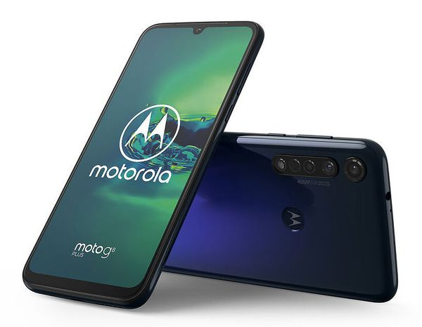 Motorola Moto G8 Plus, Cosmic Blue.