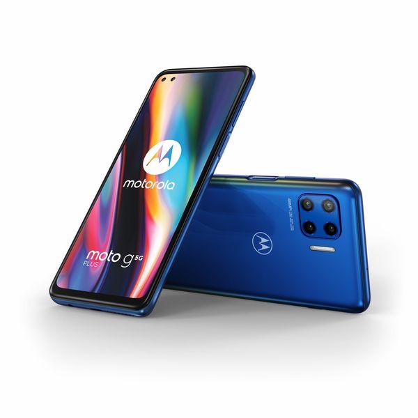 Moto G 5G Plus on edullinen 5G-älypuhelin 6,7 tuuman näytöllä ja neljällä takakameralla.