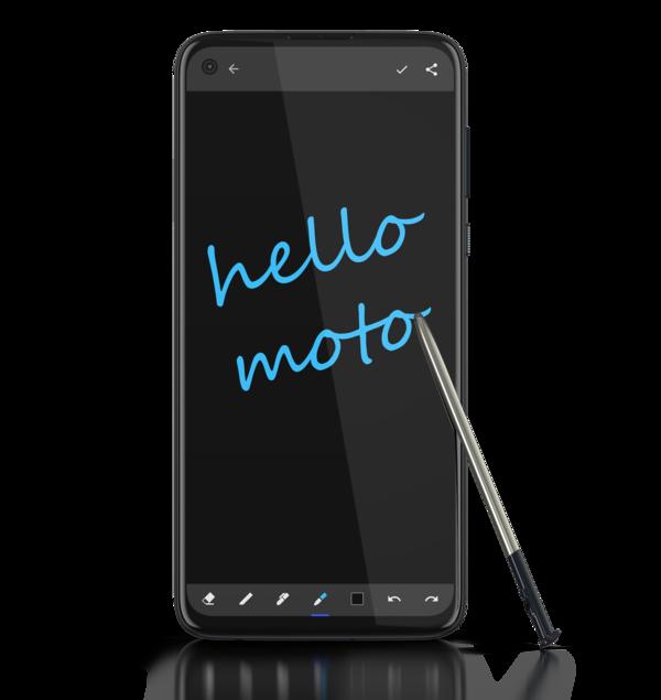 Moto Note -ohjelma avautuu, kun kynä poistetaan kolostaan.