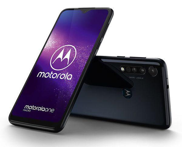 Motorola One Macro, Space Blue.