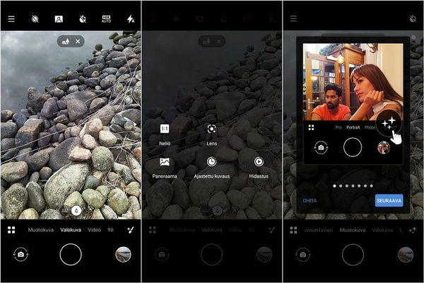 Kameran käyttöliittymä on yksinkertainen ja kuvaustiloja on runsaasti.