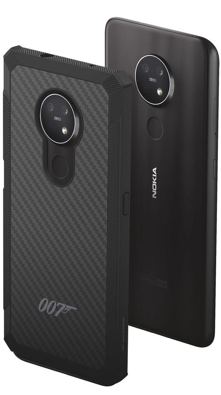 Nokia 6.2:lle ja 7.2:lle myyntiin tuleva 007-kevlar-suojakuori.