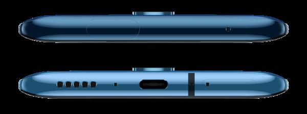 OnePlus 7T Pron yläreuna ja pohja.