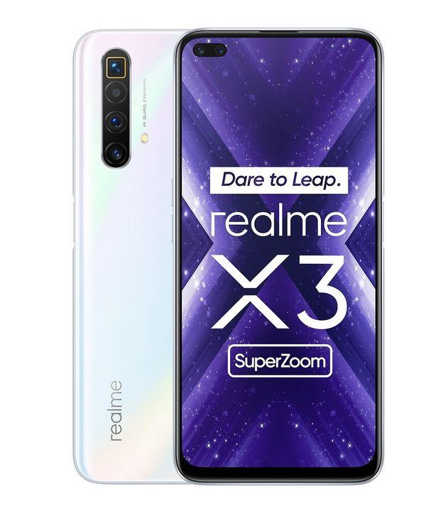Realme X3 Superzoom valkoisena värinä.