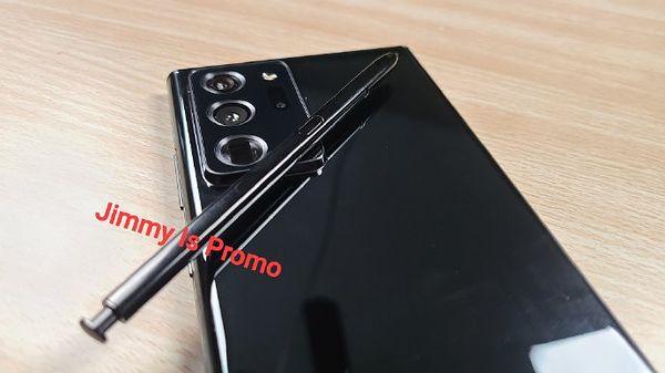 Samsung Galaxy Note20 Ultra mustana. Kuva: Jimmy Is Promo.