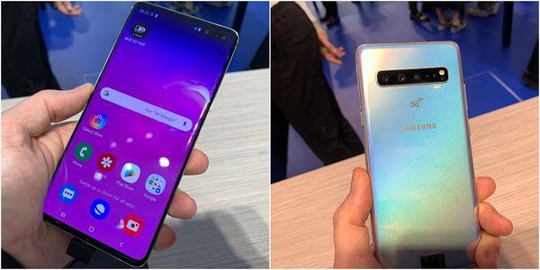 Samsung Galaxy S10 5G:ssä on myös muita S10-malleja suurempi näyttö ja enemmän kameroita.
