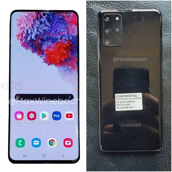 Samsung Galaxy S20+ 5G. Kuvat: Max Weinbach / xda-developers.