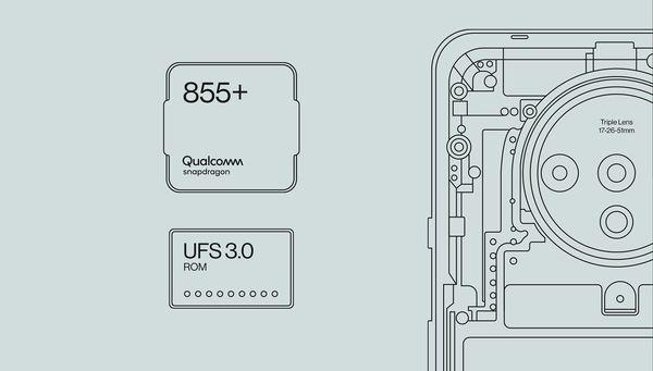 OnePlus 7T:ssä on Qualcommin tehokkain Snapdragon 855+.