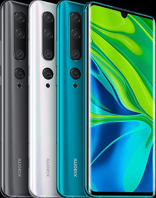 Xiaomi Mi Note 10:n värivaihtoehdot.