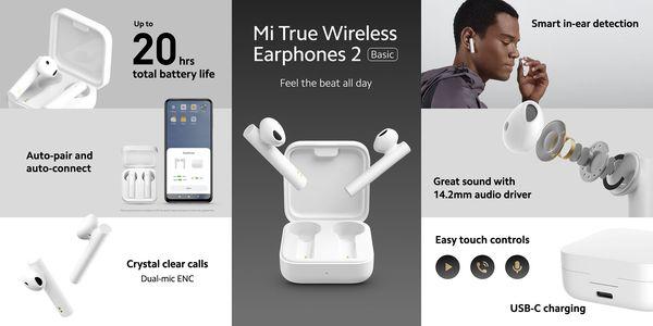 Xiaomin uudet edulliset täyslangattomat kuulokkeet.