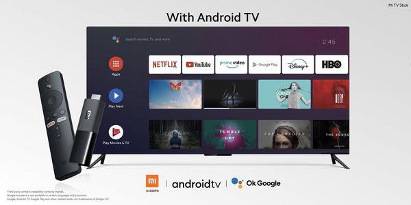 Mi Stick TV:n Android TV -käyttöliittymä.