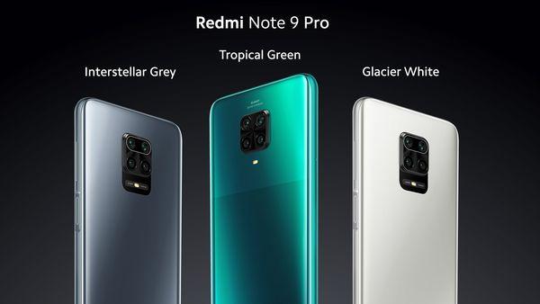 Redmi Note 9 Pron värivaihtoehdot.