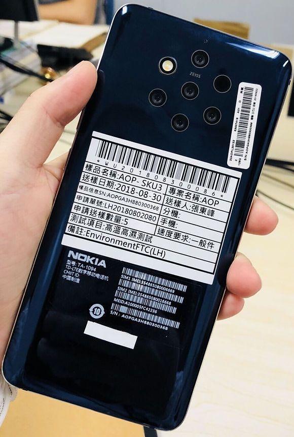 Aiempi kuvavuoto Nokia 9 PureView'stä.