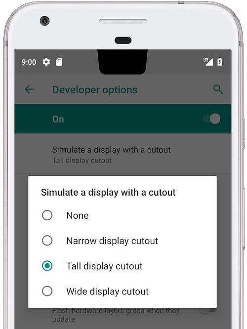 Android Pie tuo käyttöjärjestelmätasolle tuen näyttölovelle.