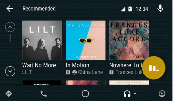 Myös Android Auton käyttöliittymää mukautetaan selkeämpään suuntaan.