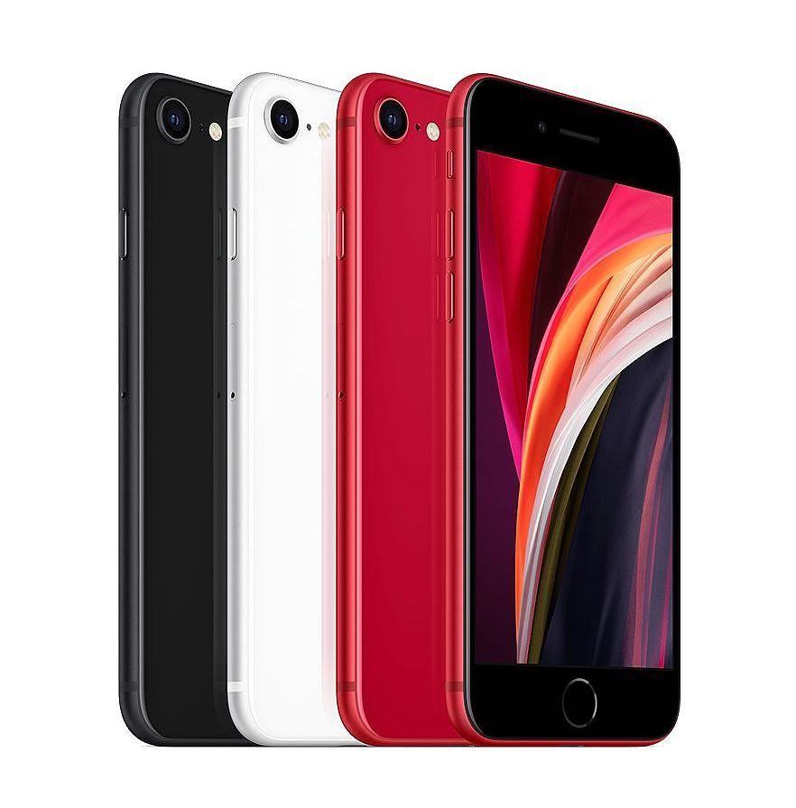 iPhone SE:n eri värivaihtoehdot.