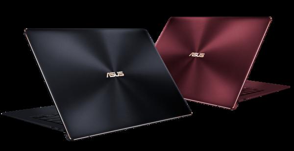 Asus ZenBook S eri väreissä.