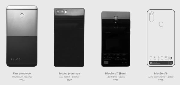 BllocZeron eri vaiheet – muotoilu ja materiaalit muuttunevat vielä hieman lopulliseen versioon.