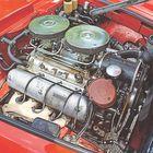 Kevytvaluinen V8 oli aikoinaan moderni voimala. 150 hevosvoimaa on maltillinen mutta riittävä luku 50-luvun autolle. Voima on tehoa tärkeämpi ominaisuus.