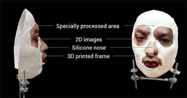 Kuva aiemmasta testistä, jossa Face ID:tä huijattiin luomalla maski puhelimen omistajan kasvoista.
