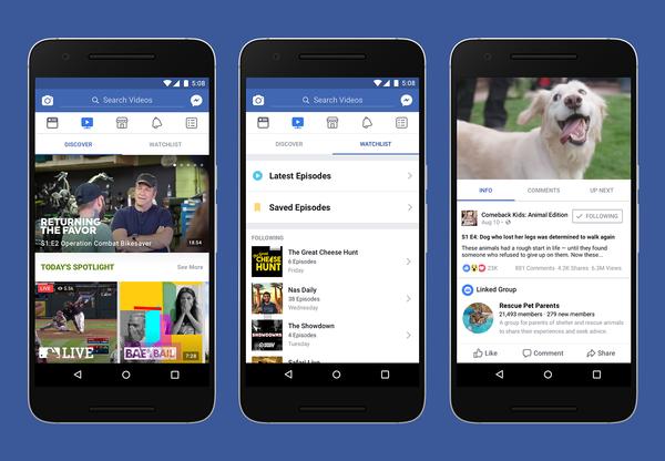 Facebook Watch on jatkossa käytettävissä niin tietokoneella kuin mobiililaitteilla.