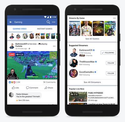 Facebookin pelikeskus älypuhelimella.