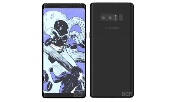 Samsungin Galaxy Note8 BGR:n julkaisemissa vuotokuvissa.