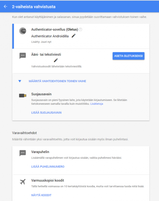 Google Puhelinnumerot