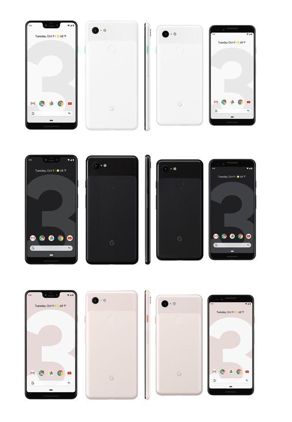 Google Pixel 3 ja Pixel 3 XL.