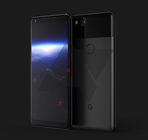 Googlen uusi suurempi Pixel. Android Policen aiemmin julkaisema kuva.