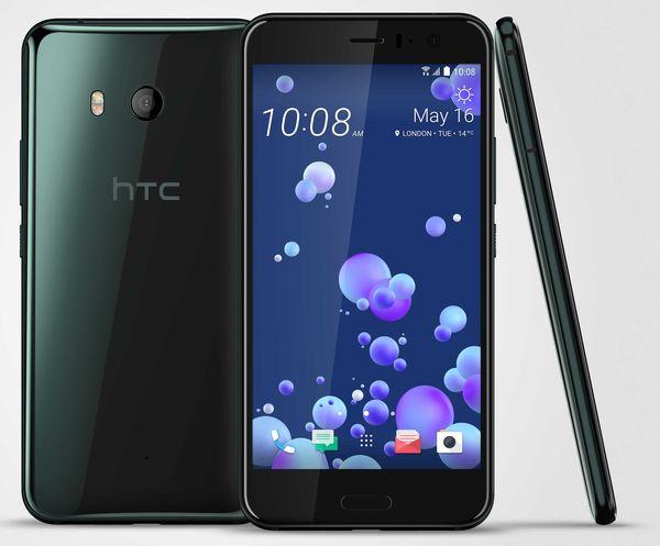 HTC U11 Brilliant Black -värissä.