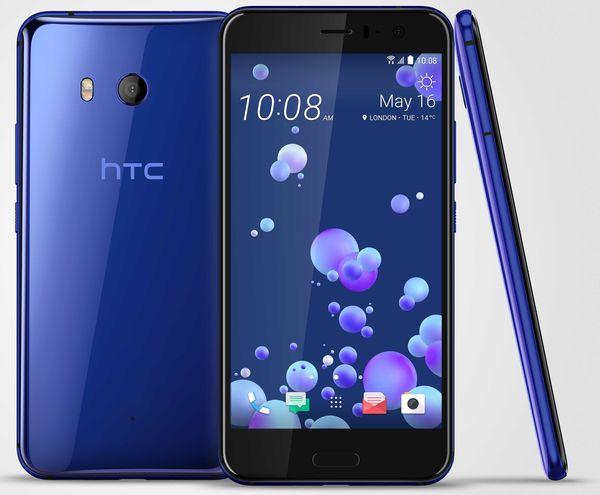 HTC U11 Sapphire Blue -värissä.