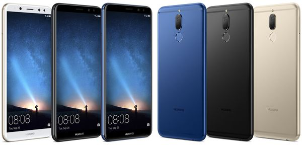 Huawei Mate 10 Lite. Evan Blassin aiemmin vuotamat lehdistökuvat.