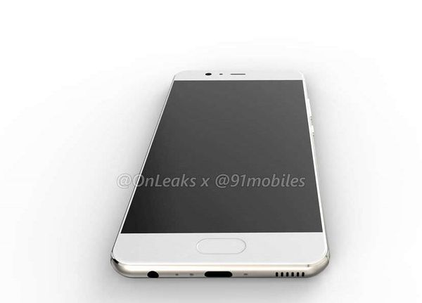 Huawei P10:n pohjassa ovat 3,5 mm -ääniliitäntä ja USB-C-liitäntä.