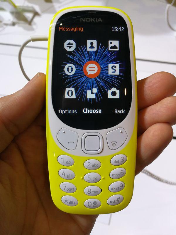 Uuden Nokia 3310:n etukuori ei ole vaihdettavissa.