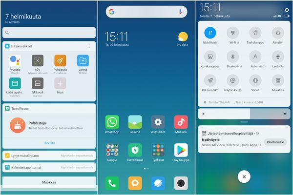 Miui 10.0 on todella sulava ja helppokäyttöinen, mutta kaukana puhtaasta Android-kokemuksesta.