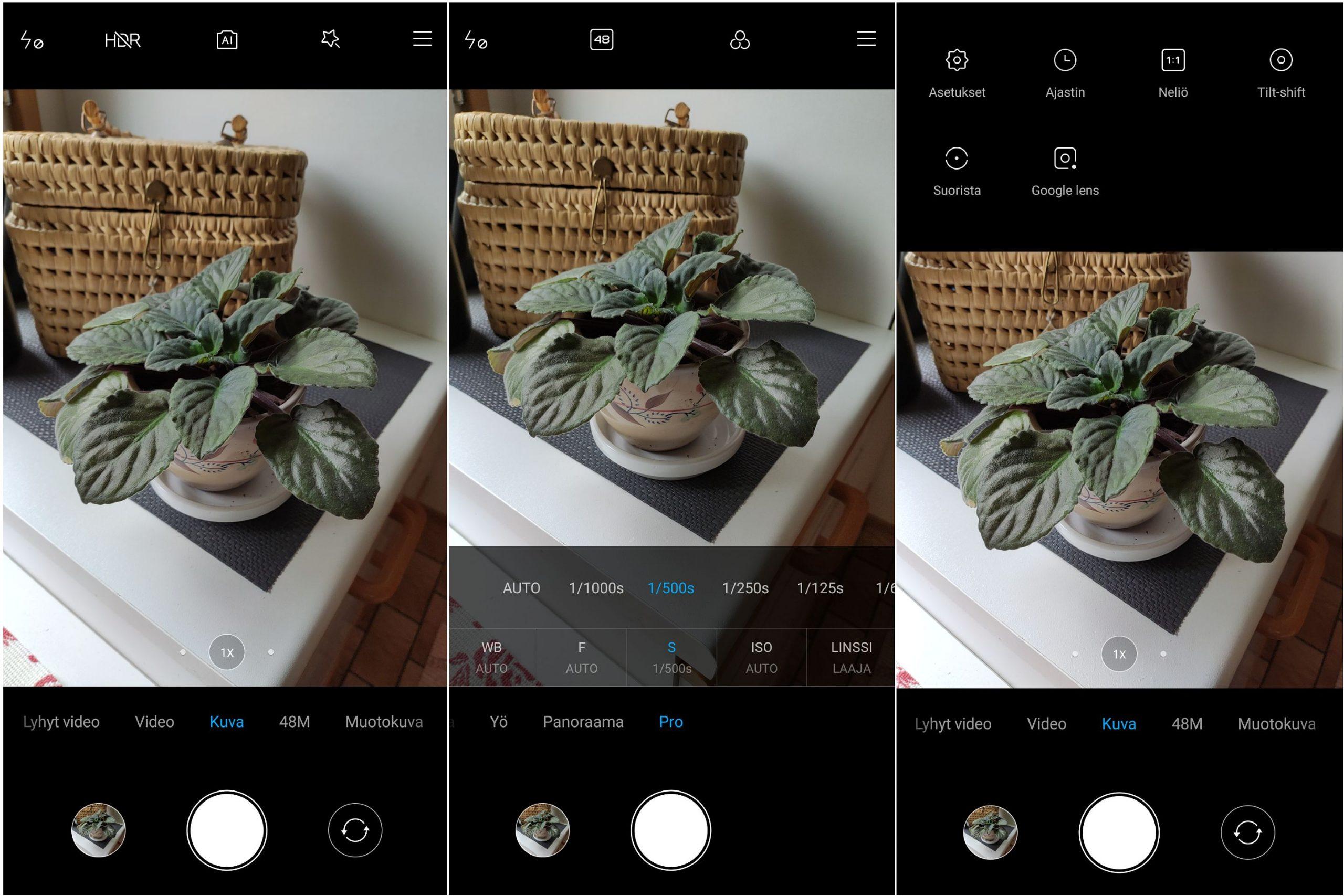 Kameran toimiva käyttöliittymä on muista Xiaomi-malleista tuttu.