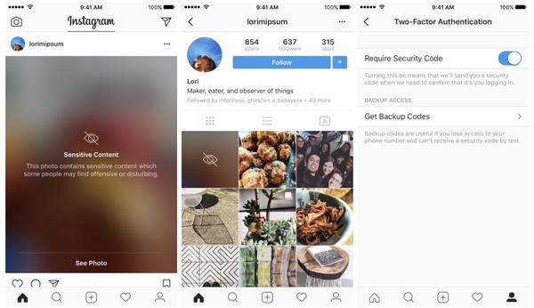 Instagram voi näyttää rajumpaa sisältöä sumennettuna.