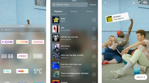 Tarravalikon kautta lisättävää musiikkia voi selata myös kategorioittain.