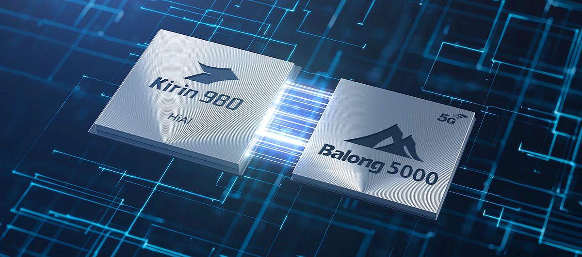 Mate 20 X 5G:ssä on Huawein oma Balong 5000 -5G-modeemipiiri Kirin 980 -järjestelmäpiirin rinnalla.