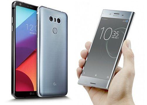 LG G6 ja Xperia XZ Premium.